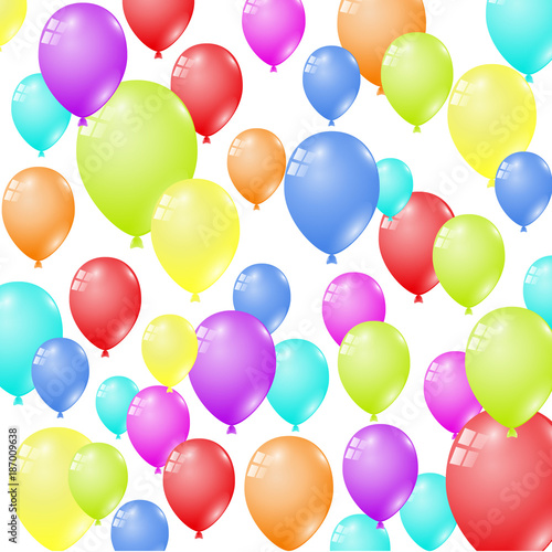 many multi colored balloons transparent stock image and royalty