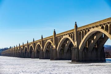 Frozen Susquehanna River at Columbia PA