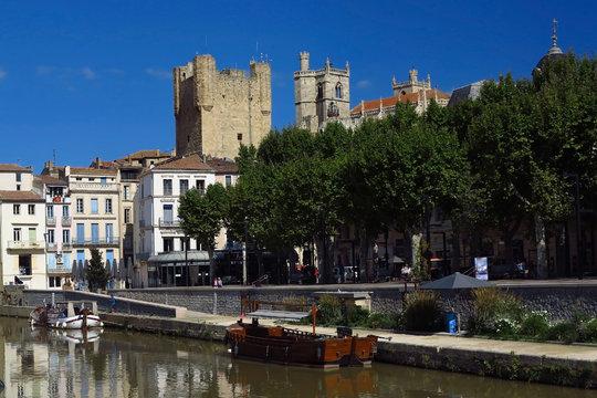 Altstadt und Kanal von Narbonne, Frankreich
