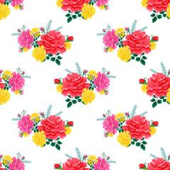 rose cute seamless pattern2-01