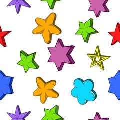 Star pattern, cartoon style