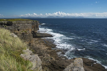 Ireland, Donegal County, Muckross Head, Cliffs and sea