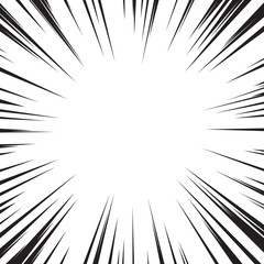 Comic book flash explosion speed radial lines