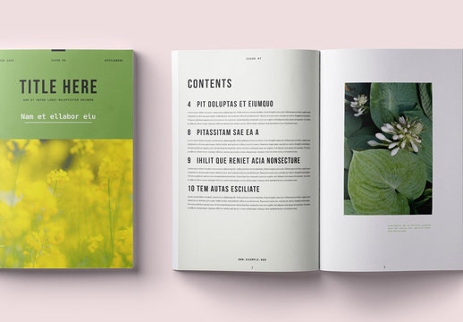 Clean and Modern Magazine Layout
