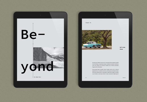 Cool and Calm eBook Layout
