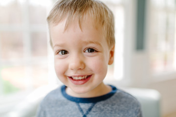 Portrait of a cute young boy smiling