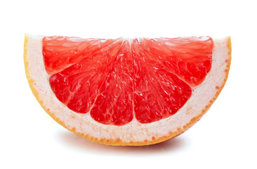 grapefruit slice isolated on white