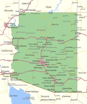 Arizona-US-States-VectorMap-A