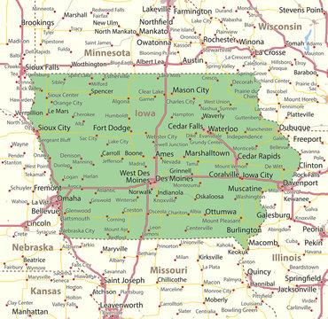 Iowa-US-States-VectorMap-A