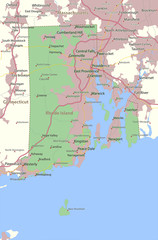 Rhode Island-US-States-VectorMap-A