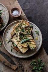 Mushroom toast with fresh herbs