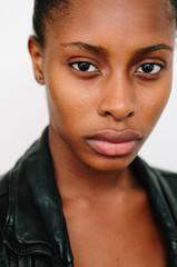 Close up of a beautiful black woman