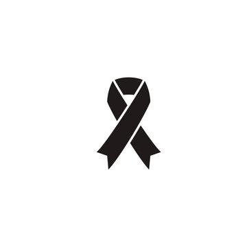 mourning ribbon icon. sign design