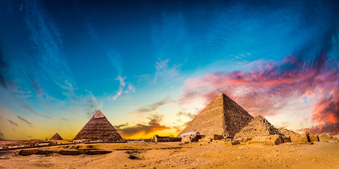 Printed roller blinds Egypt Great Pyramids of Giza, Egypt, at sunset