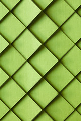 3D green tile background