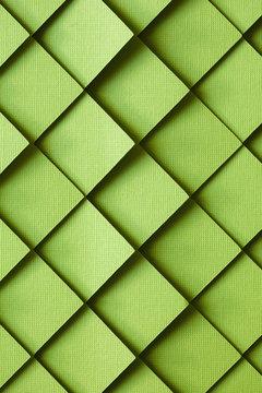 3D green tile background