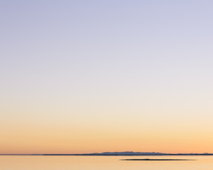 Dawn over flooded Bonneville Salt Flats