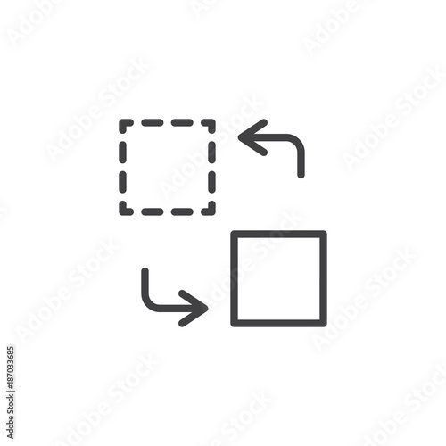 Transfer line icon outline vector sign linear style pictogram transfer line icon outline vector sign linear style pictogram isolated on white symbol ccuart Images