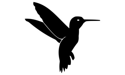 silhouette of the hummingbird fly
