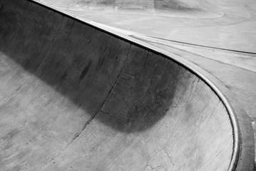 Skatepark in black and white