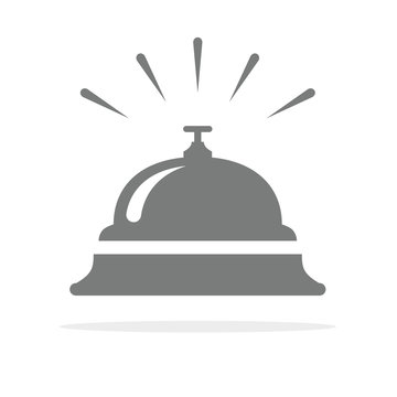 Hotel bell, service bell, reception bell icon. Vector illustration.