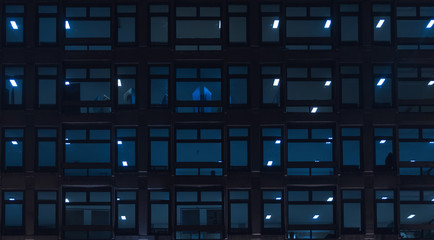Building windows at night