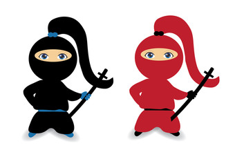 Ninja girl, female ninja, ninja woman
