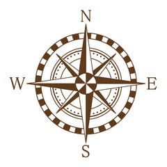 Compass wind rose. Vector illustration