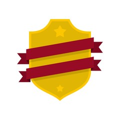 Badge business icon. Flat illustration of badge business vector icon isolated on white background