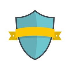 Badge element icon. Flat illustration of badge element vector icon isolated on white background