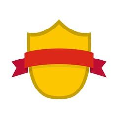 Badge modern icon. Flat illustration of badge modern vector icon isolated on white background