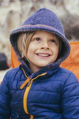 Smiling little boy.