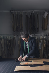 Tailor Working at His Workshop
