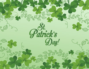 St Patrick's background illustration