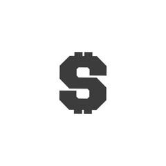 dollar icon. sign design