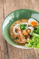 Tom Yum Noodle soup seafood