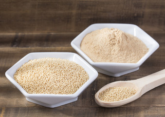 Raw organic amaranth grain and flour - amaranth