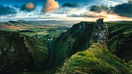 Winnats Pass in Peak District (UK)