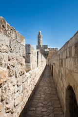 At the Ramparts Walk in Jerusalem