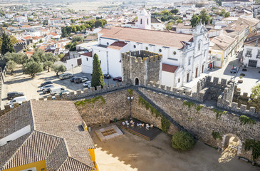 a view over Beja city and the Castle, Alentejo, Portugal