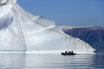 Photo sur Aluminium Pôle 'Iceberg graveyard' in Franz Joseph Fjord - Greenland