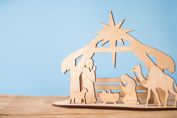 Christmas nativity scene of baby Jesus