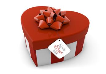 Heart Box and Gift Tag Mockup