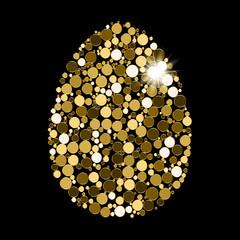 Vector Enchanting Gold Grainy Egg