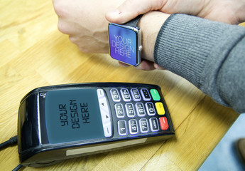 Smartwatch Payment Mockup