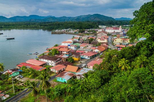 Aerial view of Portobelo village, Panama