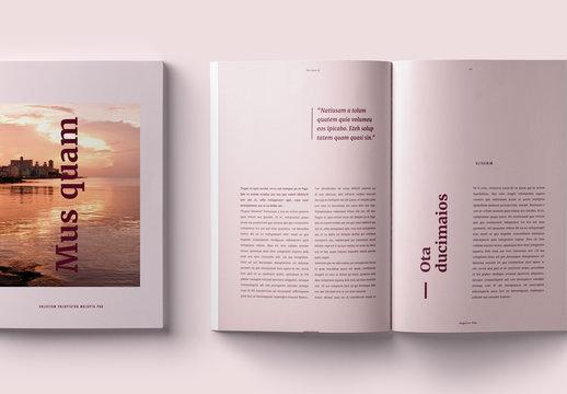 Elegant Magazine Layout