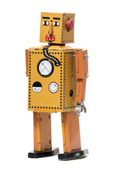 Vintage tin robot toy