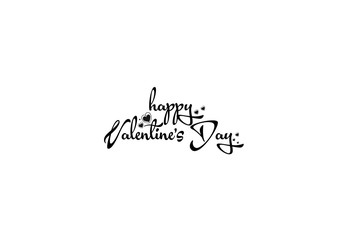 Happy Valentine's day card. Happy Valentine's Day lettering.