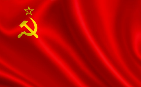 """Soviet Union flag (USSR).  A series of """"Flags of the world."""" ( The country - Soviet Union (USSR))"""